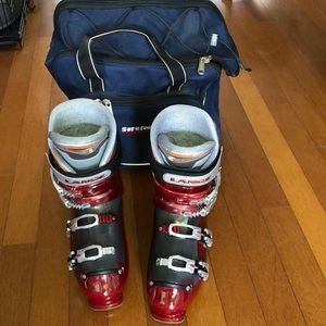 #1022 Sure-foot Skii Boots With Carrying Case